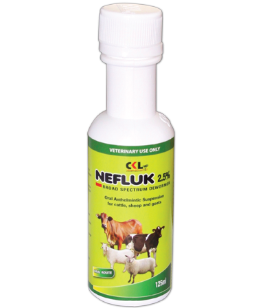 Cattle dewormers, Sheep dewormers, Goat dewormers, animal deworming, deworm roundworms, deworm tapeworms, deworm lungworms, nefluk 2.5%, how to treat worm in cattle's